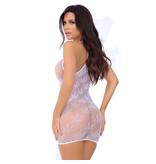 Pink Lipstick Festival Flirt Net Dress (White)