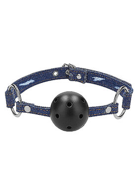 Shots America Toys Ouch! Breathable Ball Gag with Denim Straps
