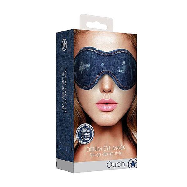 Shots America Toys Ouch! Roughened Denim Eye Mask