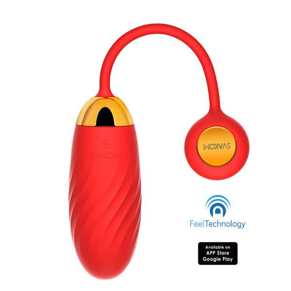 SVAKOM Interactive Toys Ella Neo App Control Bullet Vibe (Red)