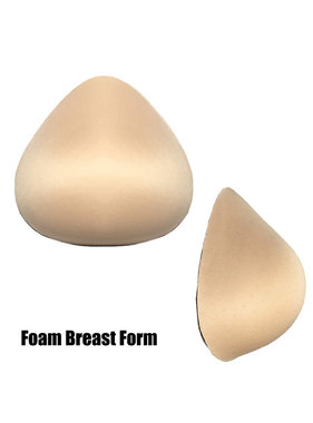Premium Products Foam Breast Form Prosthesis