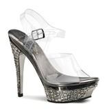 Pleaser USA GLEAM-508 Glitter Stiletto with Platform (Size 5)