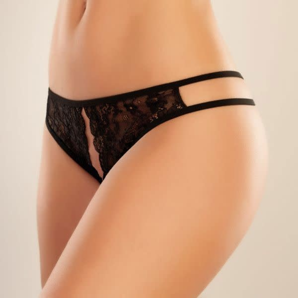 Allure Leather Adore Sweet Honey Panty Black (One Size)