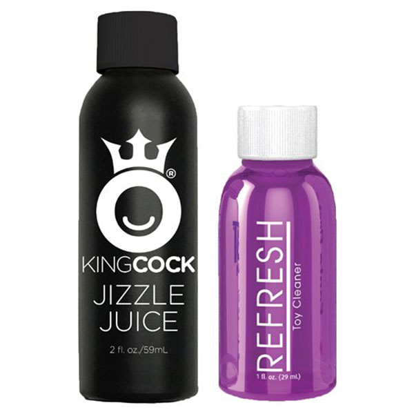 "Pipedream Products King Cock 9"" Squirting Cock with Balls (Light Flesh)"