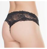 Coquette International Lingerie Floral Print Lace Crotchless Panty