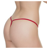 Coquette International Lingerie Floral Lace G-String (Deep Red)