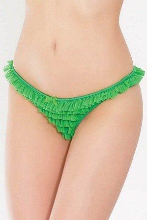 Coquette International Lingerie Ruffle Mesh Panty