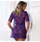 Purple Diva Chemise Bustier w/ Cut Out Cage Cups (One Size)