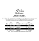 Kix'ies Kix'ies Danielle Solid Opaque Black Thigh Highs (Size A)