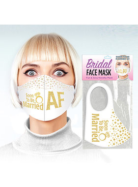 Candyprints Soon to be Married AF Face Mask
