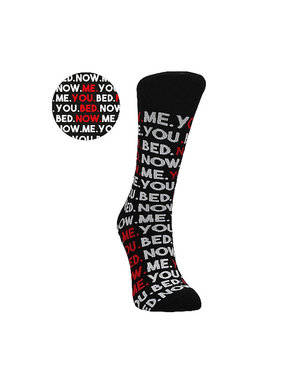Shots America Toys Sexy Socks: You, Me, Bed, Now (Male Fit)