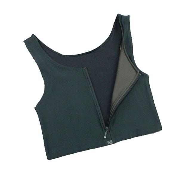 Premium Products Chest Compression Binder w/ Zipper: Tank Style (Black)