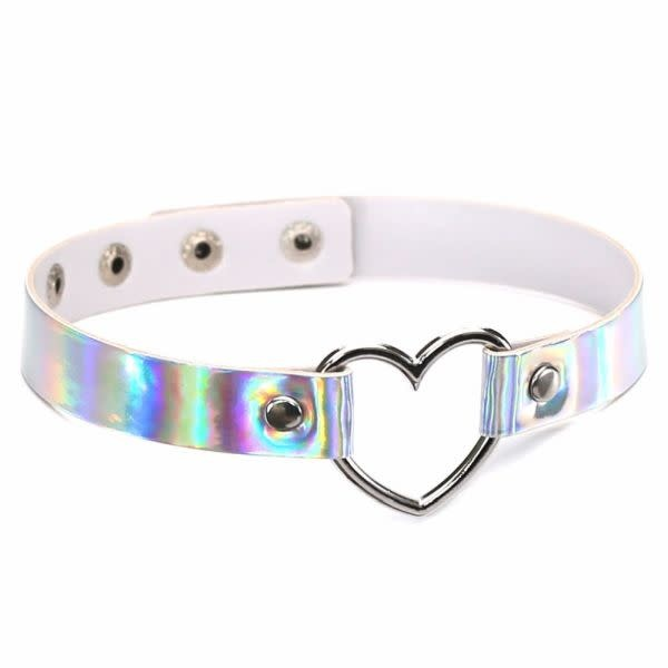Premium Products Heart Ring Choker Collar (Holographic)