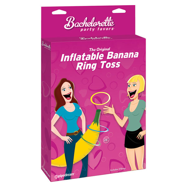 Pipedream Products Bachelorette Inflatable Banana Ring Toss Game