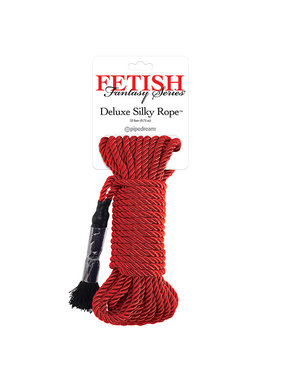 Pipedream Products Fetish Fantasy Series Deluxe Silk Rope (9.75 m) (Red)
