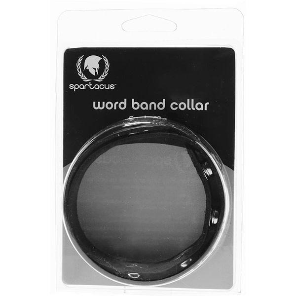 Spartacus Leather Wordband Collar: Daddys Girl