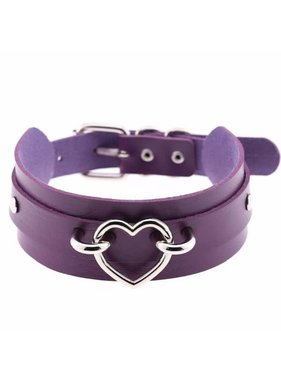 Premium Products Harajuku Handmade Heart Collar (Purple)