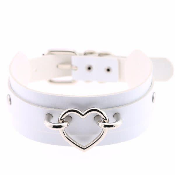 Premium Products Harajuku Handmade Heart Collar (White)