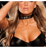 Allure Leather Leather Wordband Collar: Master
