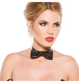 Allure Leather Faux Leather Bowtie Collar