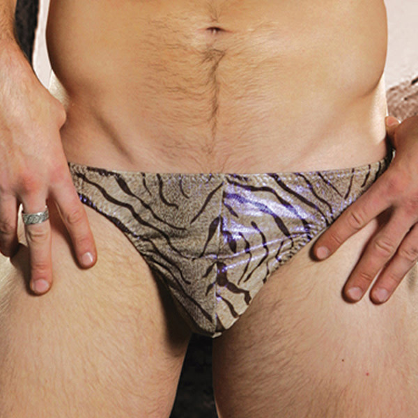 Sunspice Lingerie Male Thong: Zebra (Assorted Colours) (One Size)
