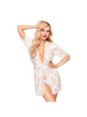 Sweet Retreat Lace White Robe