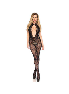 Leg Avenue Catsuit with Lace Keyhole & Bare Bottom