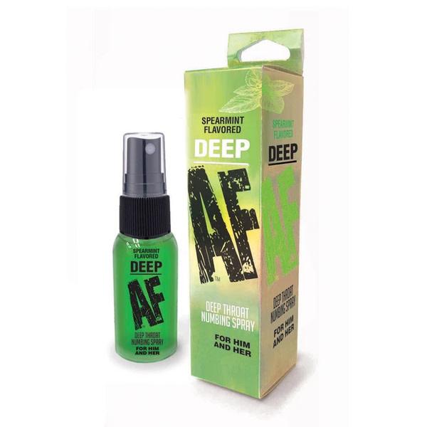Little Genie Deep AF Deep Throat Numbing Spray Mint 1 oz (29.5 ml)