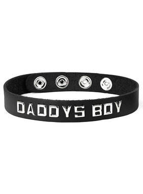 Spartacus Leather Wordband Collar: Daddys Boy