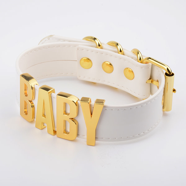Premium Products Collar with Gold Lettering: Baby