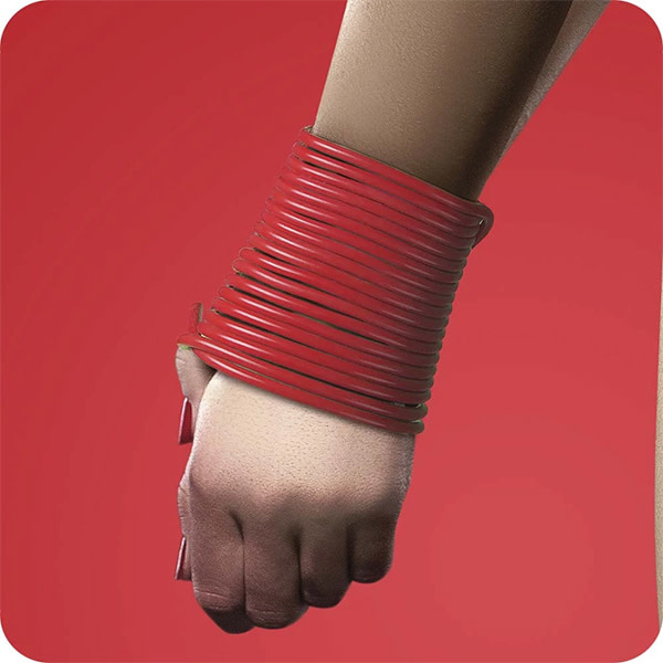 Shots America Toys Ouch! Silicone Rope: Red 5 m (16 ft)