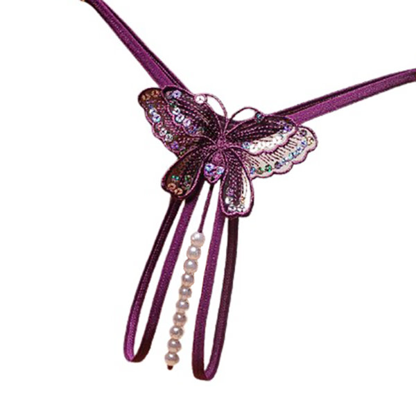 Premium Products Butterfly Pearl Thong (Purple)