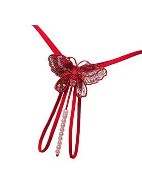 Premium Products Butterfly Pearl Thong (Red)