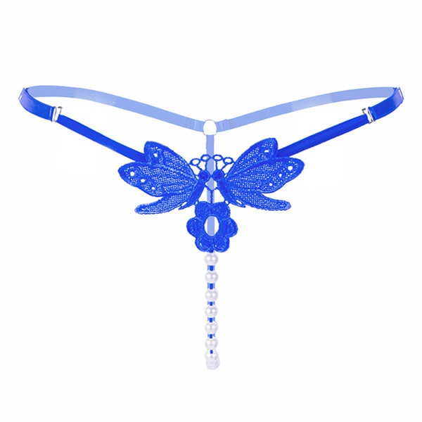 Premium Products Kissing Butterflies Pearl Thong (Blue)