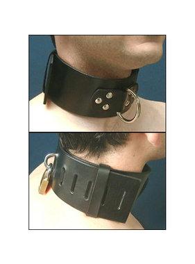 Stockroom Extra Wide Locking Leather Collar
