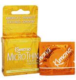 Kimono Condoms Kimono MicroThin Ribbed + Sensi-Dots Condoms 3 Pack