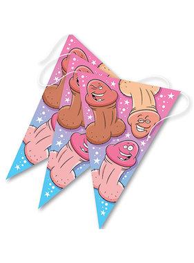Ozze Creations Bachelorette Happy Pecker Party Triangle Banner