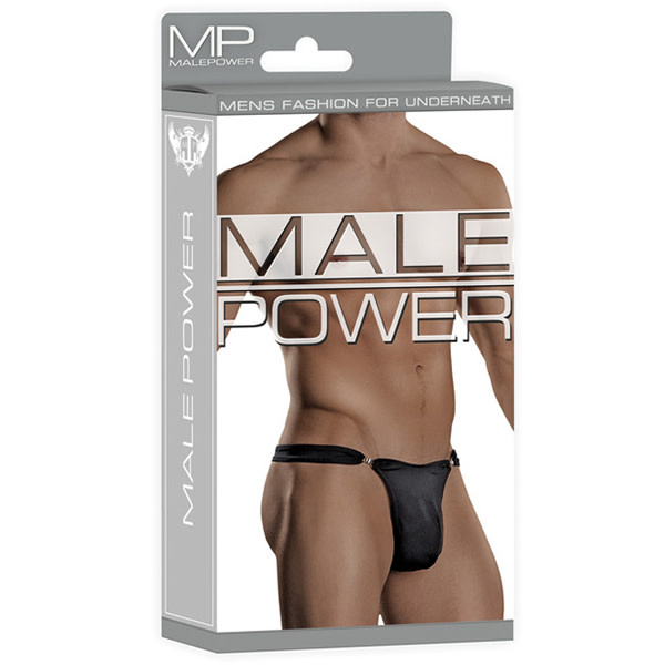 Male Power Bong Clip Thong (Black)