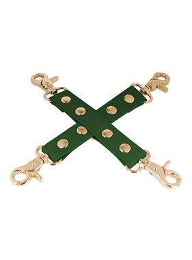 Spartacus Spartacus PU Hog Tie w/Gold Hardware