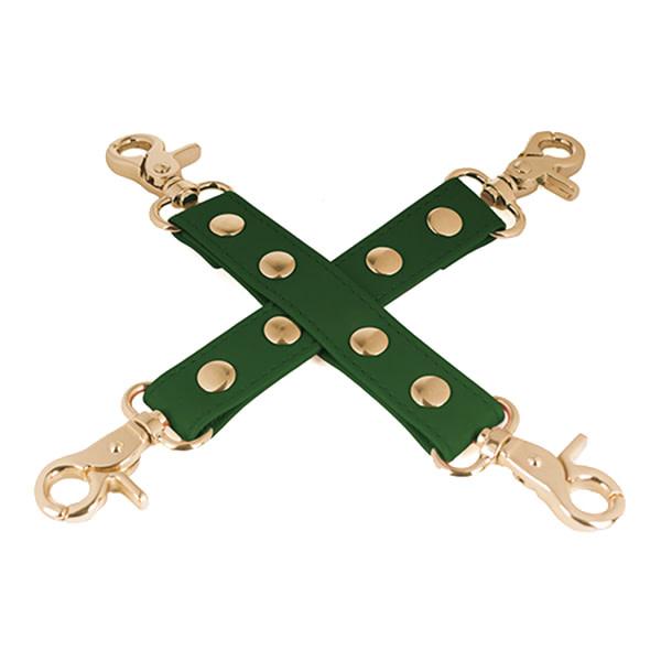 Spartacus Spartacus PU Hog Tie w/Gold Hardware (Green)