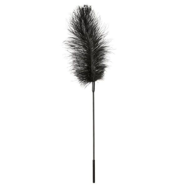 Sportsheets Ostrich Feather Tickler (Black)