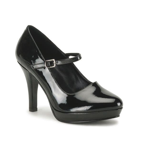 Pleaser USA Funtasma CONTESSA-50X Gangster Mary Jane Shoe (Wide)