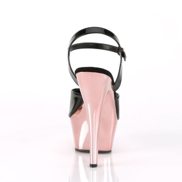 Pleaser USA KISS-209 - Gold Chrome Platform Ankle Strap Sandal