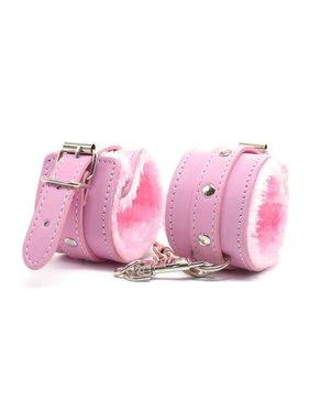 Premium Products Faux Fur Lined PU Cuffs (Pink)