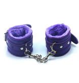 Premium Products Faux Fur Lined PU Cuffs (Purple)