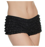Coquette International Lingerie Ruffle Shorts with Back Bow Detail (Black)