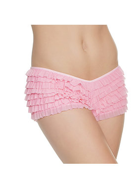 Coquette International Lingerie Ruffle Shorts with Back Bow Detail (Pink)