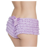 Coquette International Lingerie Ruffle Shorts with Back Bow Detail (Purple)