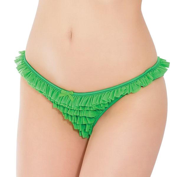 Coquette International Lingerie Ruffle Mesh Panty (Green)