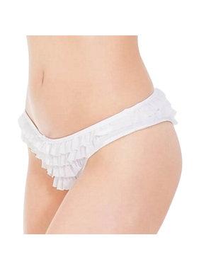 Coquette International Lingerie Ruffle Mesh Panty (White)